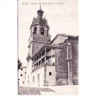 MLGTP1520CPA-LFTD10083TARIC.Tarjeta Postal De MALAGA.IGLESIA DE SANTA MARIA LA MAYOR En Ronda.Malaga. - Iglesias Y Catedrales
