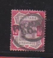 Grande Bretagne   //  N 102 --  10 Pence Rouge Obl --  Côte 47.5 € - Usati