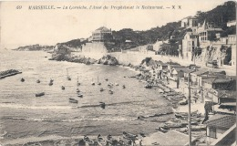 -13-  MARSEILLE La Corniche L'anse Du Prophete Et Le Restaurant éd XX Neuve TTB - Joliette, Port Area