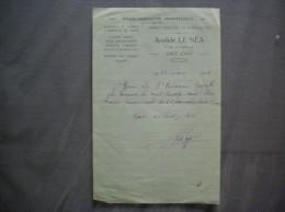 GACE ORNE ARISTIDE LE NEA ETABLISSEMENT HORTICOLE 21 RUE DU THEATRE RECU DU 22 FEVRIER 1936 - Frankreich