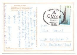 GEWERKSCHAFT - IG Metall 12. Gewerkschaftstag, Düsseldorf 1977, Sonderstempel - Gewerkschaften