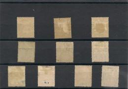 NOUVELLE CALÉDONIE Année 1892 Lot */oblitérés Côte: 85,00 € - Lots & Serien