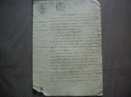 30 JUILLET 1826 NOYALES VENTE D'UNE PIECE DE TERRE PAR PIERRE JOSEPH LESNE A BERNOT A LOUIS GARDEZ TISSEUR EN COTON A NO - Manuscrits
