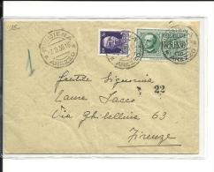Lettre  Italie  1938(195) - Usati