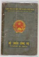 VIETNAM Passeport De Service 1989 Service Passport   Dienstpaß - Historische Documenten