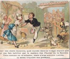 CHROMO AUX PHARES DE LA BASTILLE A PARIS IMPRIMERIE TH. DUPUY - Trade Cards
