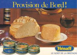 25537 Publicité Paté Hénaff Provision De Bord ! Bretagne France- Conserve Pain Vin  Bateau - -le Goues - Publicité
