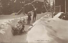 Pays Divers- Suisse - Ref F450- Sports D Hiver - Joies D Hiver - Skis Et Luge - Carte Bon Etat  - - Wintersport