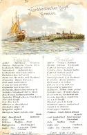 Menu Compagnie Maritime Bateau Paquebot Norddeutscher Lloyd Bremen 26 Avril 1904 - Menus
