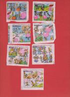Lot 4 De 7 Images Malabar Et Les Grands Héros (série Complète) - Confiserie & Biscuits