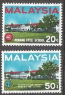 Malaysia. 1966 150th Anniv Of Penang Free School. MNH Complete Set SG 35-36 - Malaysia (1964-...)
