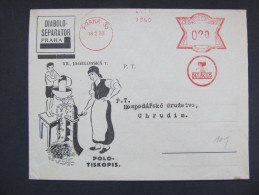 Brief Frankotype Postfreistempel Praha Diabolo 1933  //// S2726 - Briefe U. Dokumente