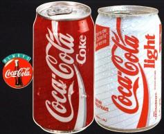AUTO COLLANT  COCA COLA - Lot De 4 - Bouteilles Et Canettes - Coca-Cola