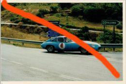 SPORT AUTOMOBILISMO TARGA FLORIO AUTOSTORICHE 93 BRACONI - BRIGUGLIA JAGUAR E TYPE 10X15 COLORI - Automobili
