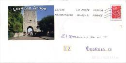 PAP Utilisé : 18 (cher) : LURY SUR ARNON - Postal Stamped Stationery