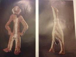 Poster, 24 X 31 ,figurine D'oiseau Et Statuette En Terre Cuite , République Démocratique  Congo, Arts Premiers Africains - Other