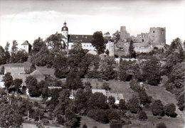 Frauenstein Im Erzgebirge - S/w Blick Auf Schloß & Burgruine - Frauenstein (Erzgeb.)