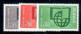 Y1337 - FRANCIA  , Servizio Unificato Serie 36/38  ***  MNH Unesco - Servizio