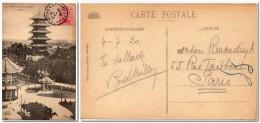 1920 Belgie Belgique Cp De Brussel (La Tour Japonaise) Voyagee Pour La France Postkaart Bruxelles - Belgium