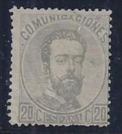ESPAÑA 1872 - Edifil #123 - MLH * - 1872-73 Reino: Amadeo I