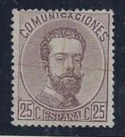 ESPAÑA 1872 - Edifil #124 - VFU - 1872-73 Reino: Amadeo I