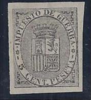 ESPAÑA 1874 - Edifil #141S Sin Dentar - MLH * - Impuestos De Guerra