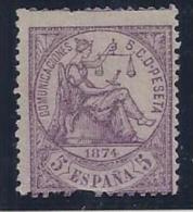 ESPAÑA 1874 - Edifil #144 - MLH * - 1873-74 Regentschaft
