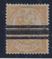 ESPAÑA 1874 - Edifil #149S Barrado - Sin Goma - 1873-74 Regentschaft