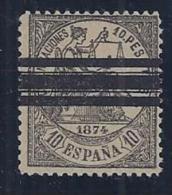 ESPAÑA 1874 - Edifil #152T Barrado - Sin Goma - 1873-74 Regentschaft