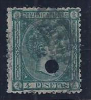 ESPAÑA 1875 - Edifil #170T Taladrado - VFU - Usati