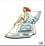 "RARE Pin´s - Maison / Loisirs - Philips / Fer à Repasser ""Azur"". Est. Demont Zurich (Ch)- Design W. Luthy. EGF. T413-08 - Marcas Registradas"