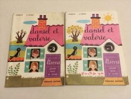 Lot De 2 Livres Méthode Mixte De Lecture CP Daniel Et Valerie Livret N° 1 & 2 De 1964 Bon état ++ - 6-12 Ans