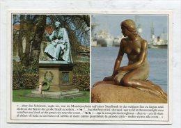 DENMARK - AK 255298 Kobenhavn / Copenhagen - The Little Mermaid & H.C. Andersen Monument - Denmark