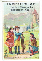Chromo BRASSERIE DE L'ALLIANCE BRUXELLES - Mr & Mme BABY En Ecosse - Trade Cards