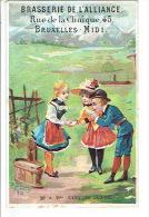Chromo BRASSERIE DE L'ALLIANCE BRUXELLES - Mr & Mme BABY En Suisse - Trade Cards