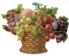 Grand Découpi (19.5 X 15 Cm) Gaufré - Panier De Fruits - Découpis