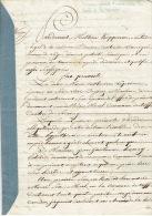 Acte Notarié De 1829 Vente De Terres à MERY Par Anne Catherine LEPRINCE épse GODINAS Pour Guillaume HENRY De CREVECOEUR - Manuscripts