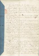 Acte Notariéde 1833 MERY Vente De Terre Par Marguerite LEPRINCE Vve André BOSNY Pour Jean Guillaume HENRY De CREVECOEUR - Manuscripts