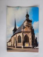 """Carte Postale Ancienne : SAINT-ANDRE DE L' EURE : L' Eglise Avec """"Liberté, Egalité, Fraternité"""" - France"""