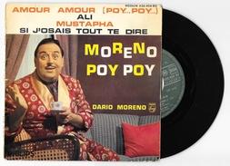 45 T DARIO MORENO Poy Poy Amour Amour + 3 De 1960. Philips 432.450 BE - Autres - Musique Française