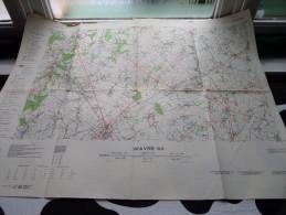 WAVRE 40 ( Type R.) Anno 1953 - Schaal / Echelle / Scale 1: 50.000 ( Stafkaart : Zie Foto´s ) ! - Maps