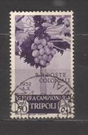 7249- Libya , Italian Colonies , Scott B42   – Used - Libya
