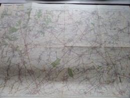 WAVRE Louvain ( Nr. 40 ) Anno 1933 Schaal / Echelle / Scale 1: 40.000 ( Stafkaart : Zie Foto´s ) ! - Maps