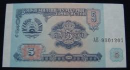 TAJIKISTAN 5 RUBLES 1994 UNC - Tadjikistan