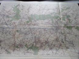 MONS ( Ath ) ( Nr. 45 ) Anno 1934 Schaal / Echelle / Scale 1: 40.000 ( Stafkaart : Zie Foto´s ) ! - Cartes