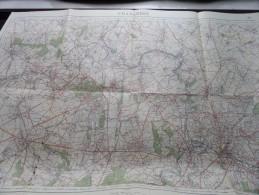 CHARLEROI ( Nivelles ) ( Nr. 46 ) Anno 1934 Schaal / Echelle / Scale 1: 40.000 ( Stafkaart : Zie Foto´s ) ! - Maps