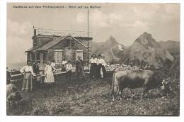 SUI.0066/ Gasthaus Auf Dem Frohnalpstock - Blick Auf Die Mythen - SZ Schwyz