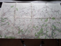NAMUR ( Garnizoenkaart / Garnison ) Anno 1934 Schaal / Echelle / Scale 1: 40.000 ( Garnizoen/Stafkaart : Zie Foto´s ) ! - Cartes