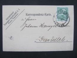GANZSACHE Tetschen A.d.E. Decin - Daudleb 1908// D*18755 - 1850-1918 Imperium