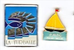 PORT DE PIRIAC PORT DE LA TURBALLE 44 (2 PIN'S) - Städte
